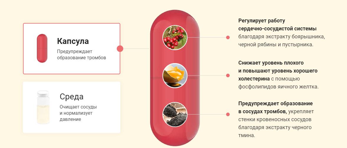 Состав капсул Cardiosoft